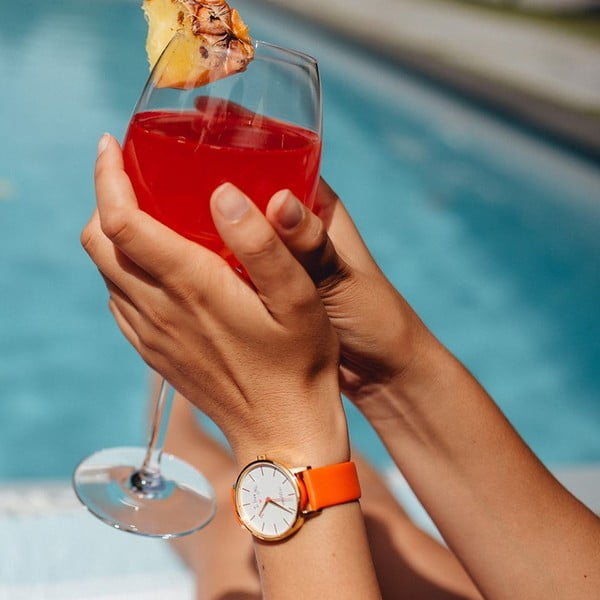 Oranžové hodinky VeryMojo Time To Drink
