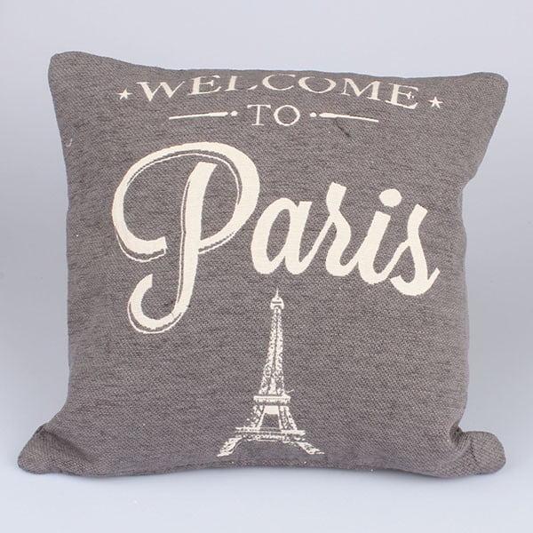 Povlak na polštář Paris in Grey, 40x40 cm