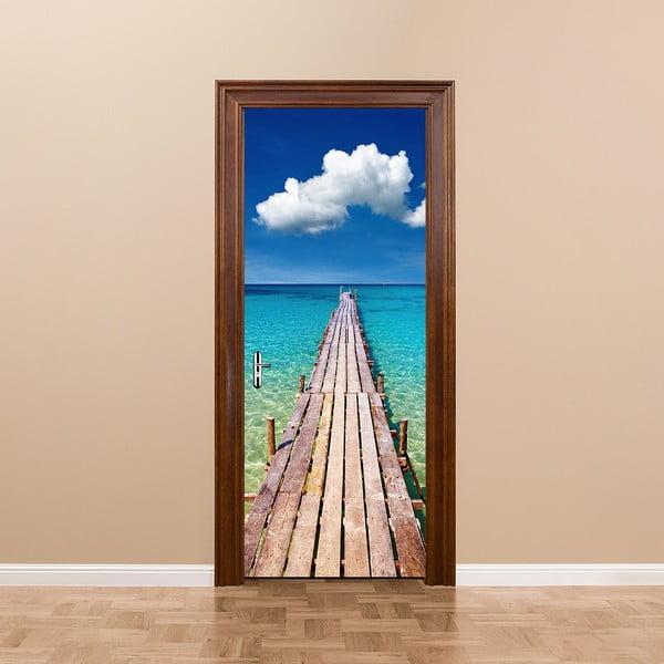 Adhezivní samolepka na dveře Ambiance Welcome to Paradise, 83 x 204 cm