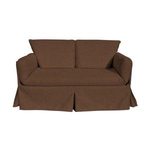 Canapea extensibilă cu 3 locuri 13Casa Roma Matrix, maro închis