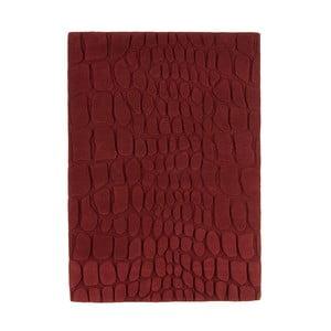 Vlněný koberec Croc Red, 120x170 cm
