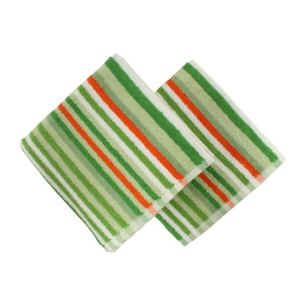 Sada 2 zelených ručníků Cizgi Green, 40x80cm