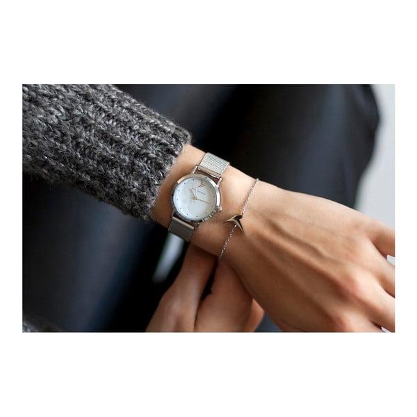 Dámské hodinky s šedým páskem z nerezové oceli Emily Westwood Bussiness