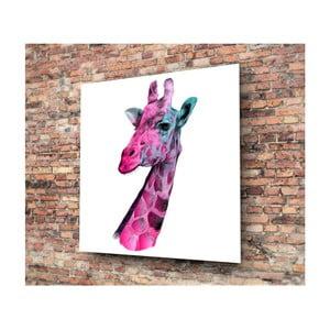 Skleněný obraz 3D Art Graphico Giraffe, 50x50cm