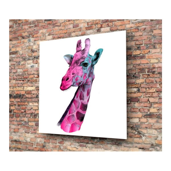 Tablou din sticlă 3D Art Graphico Giraffe, 50 x 50 cm