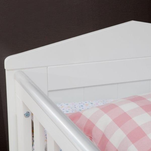 Bílá dětská postýlka Pinio Marseille, 70x140cm