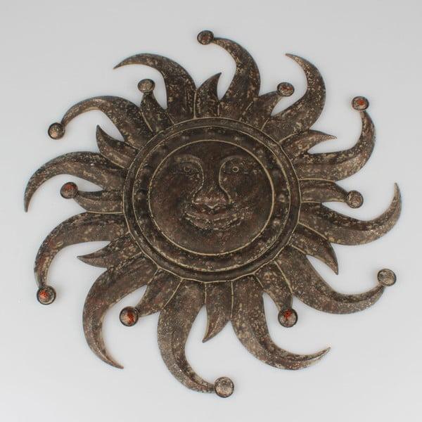 Kovová nástenná dekorácia Dakls Sun, ⌀ 50 cm