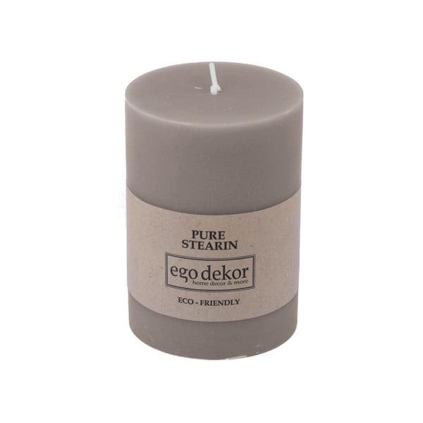 Béžově hnědá svíčka Baltic Candles Eco, výška 10cm