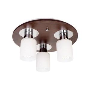 Stropní svítidlo se 3 žárovkami s dřevěnou základnou Atlas Round
