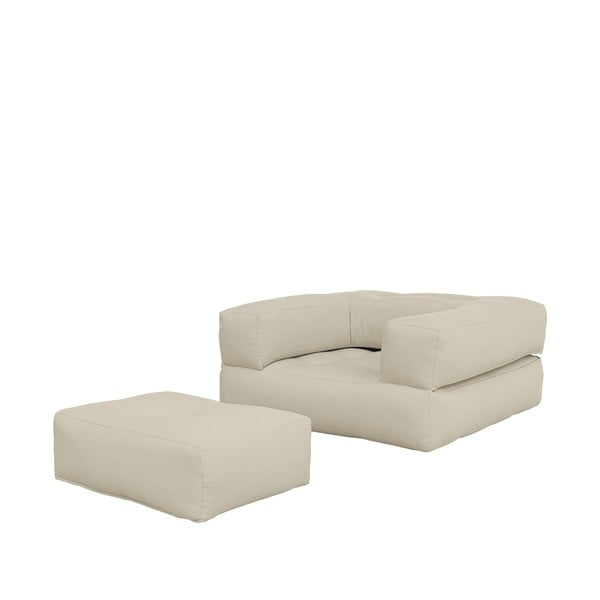 Fotel rozkładany Karup Design Cube Beige