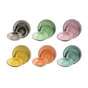 18dílný set barevného nádobí z kameniny Villa d'Este Fausto