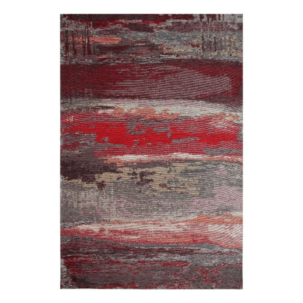 Běhoun Eco Rugs Red Abstract 80 x 300 cm