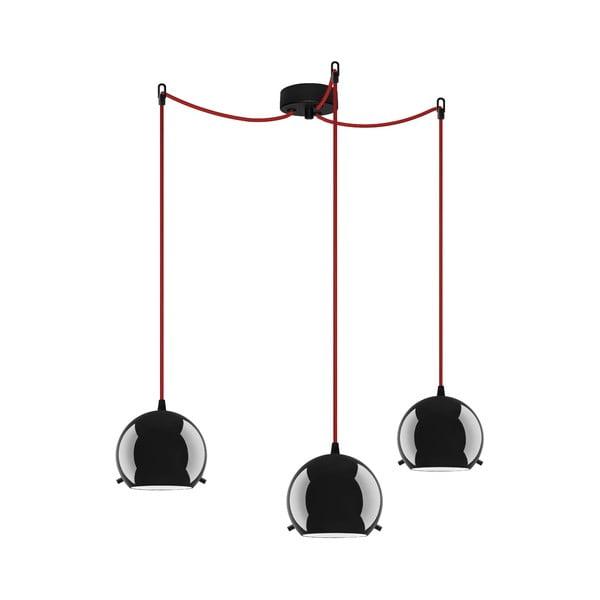 Trojité světlo MYOO Elementary, black glossy/red/black
