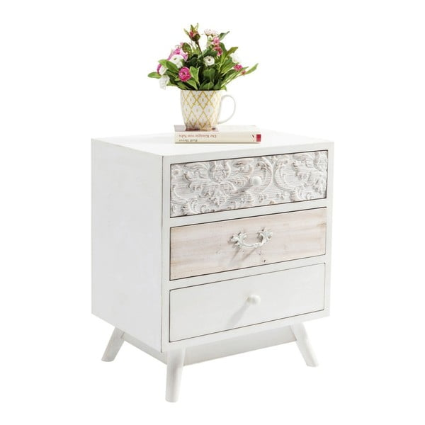 Bílá komoda se 3 zásuvkami Kare Design Sweet Home