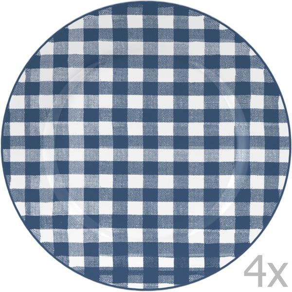 Sada 4 talířů  Indigo, 19 cm