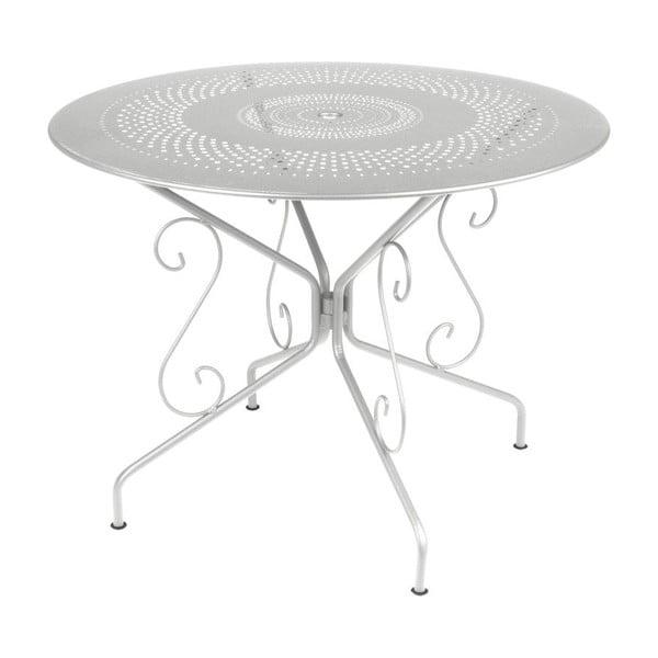 Světle šedý kovový stůl Fermob Montmartre, Ø96cm