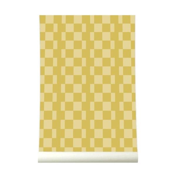 Tapeta Retrosquare Mustard
