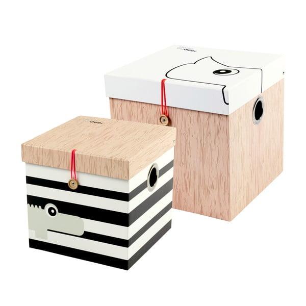 Sada 2 úložných boxů Done by Deer Square
