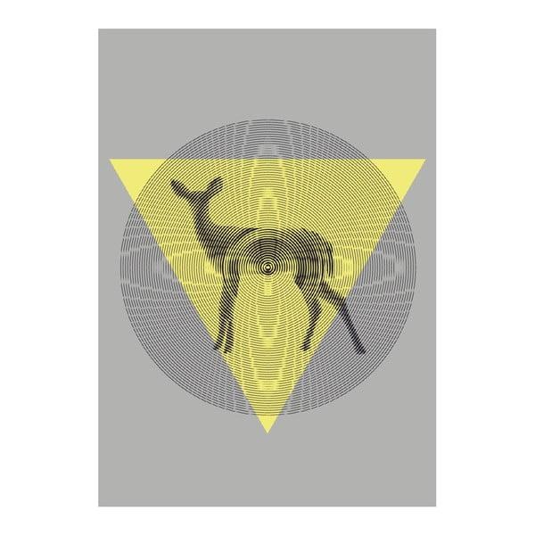 Plakát Deer In Triangle, A3