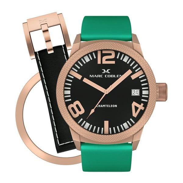 Dámské hodinky Marc Coblen s páskem a kroužkem navíc P98