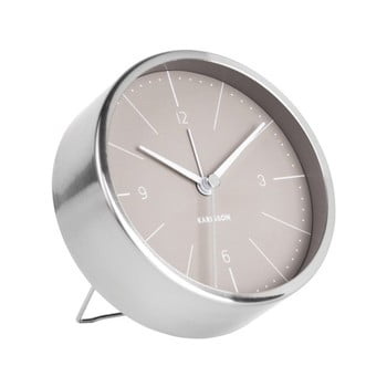 Ceas alarmă Karlsson Normann, Ø 10 cm, gri de la Karlsson