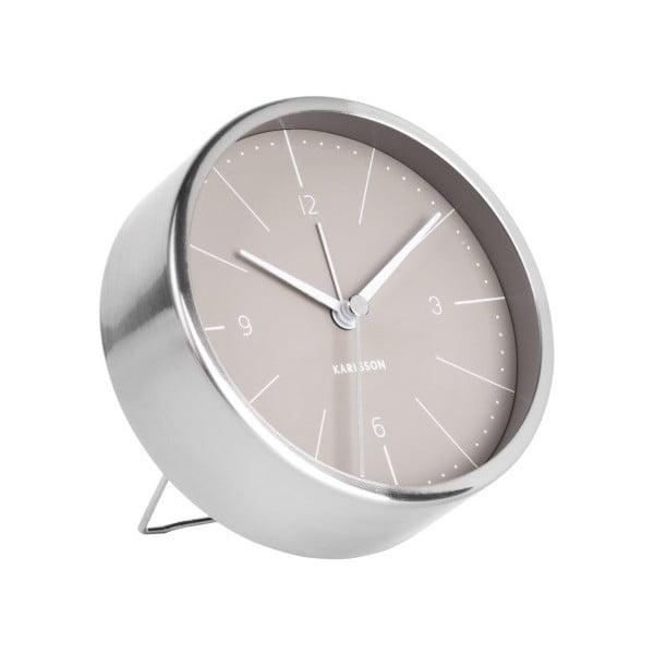Ceas alarmă Karlsson Normann, Ø 10 cm, gri