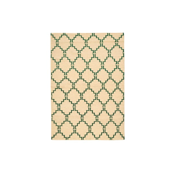 Ručně tkaný koberec Green Lines Kilim, 158x217 cm