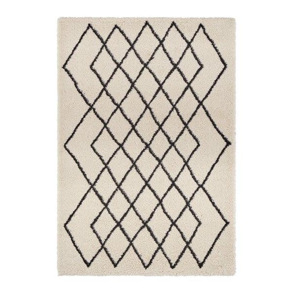 Krémovo-čierny koberec Mint Rugs Allure, 160 × 230 cm