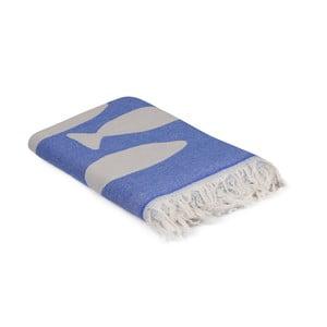 Modrý ručník Balik, 180 x 100 cm