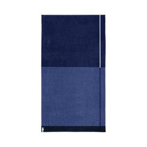 Tmavě modrá bavlněná osuška Seahorse Block, 180x100cm