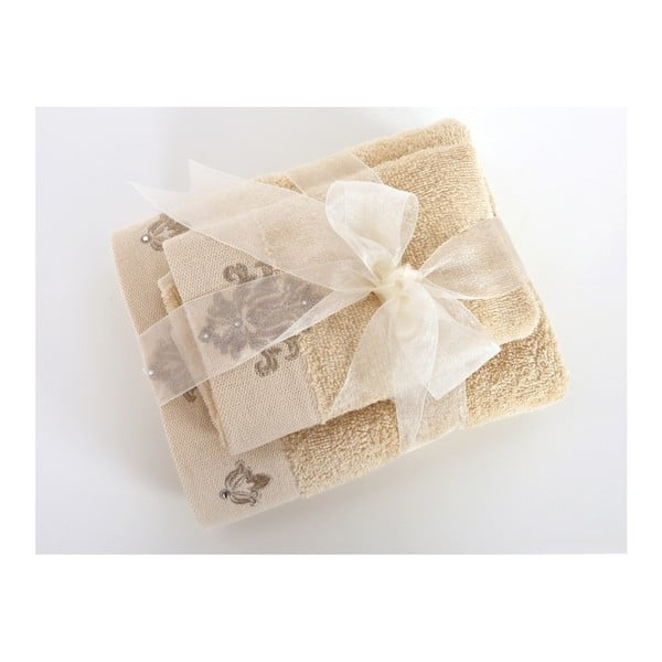 Set béžové osušky a ručníku Irya Home Spa, 30x50 cm a 50x90 cm