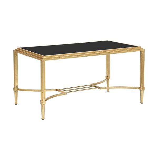 Konferenční stolek ve zlaté barvě MauroFerretti Roman, 90x45cm