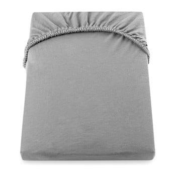 Cearșaf de pat cu elastic DecoKing Nephrite, 220–240 cm, gri de la DecoKing