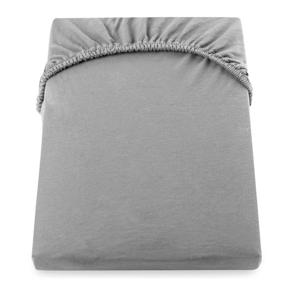 Cearșaf de pat cu elastic DecoKing Nephrite, 220–240 cm, gri