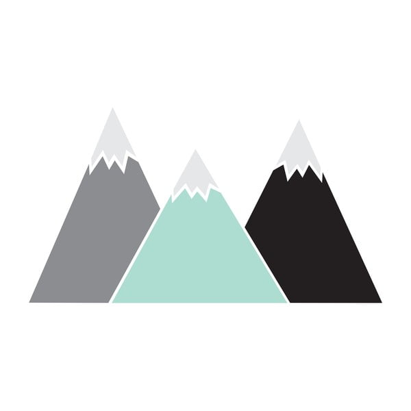 Autocolant pentru perete Dekornik Pastel Mountains