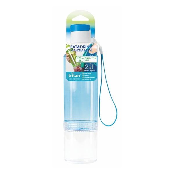 Modrá lahev na vodu Snips Eat&Drink,750ml