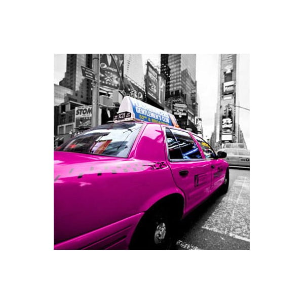 Obraz na skle Fialové taxi, 30x30 cm