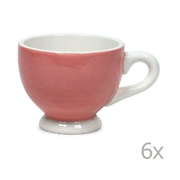 Sada 6 hrnků Puck 200 ml, růžový