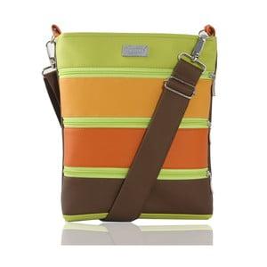 Oranžovo-zelená kabelka Dara bags Dariana Middle No.52