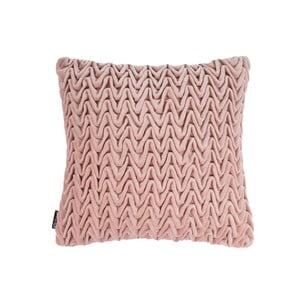 Růžový polštář ZicZac Waves, 45x45cm