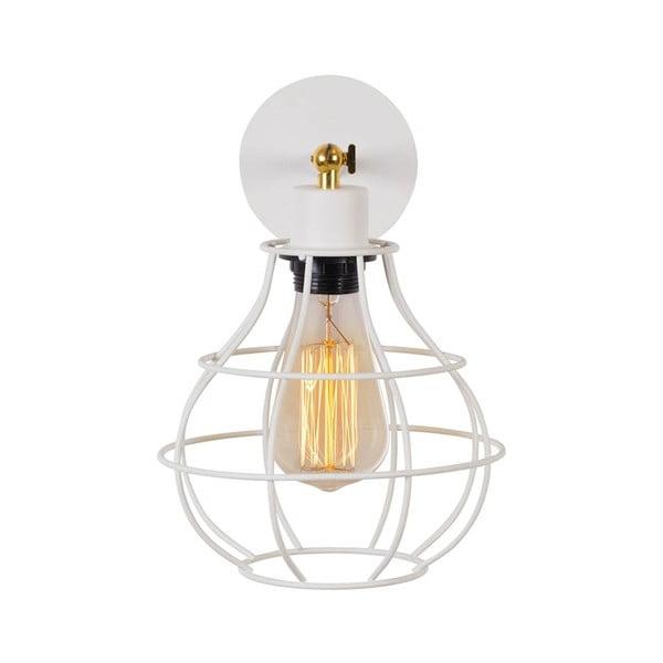 Bílá nástěnná lampa Cage Drop