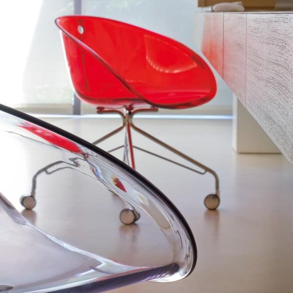 Transparentmí židle na kolečkách Pedrali Gliss 968