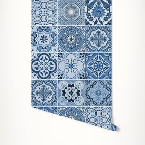 Modrá samolepicí tapeta LineArtistica Audrey, 60 x 300 cm