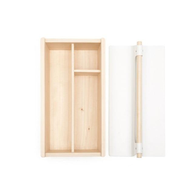 Bílý úložný box z jasanového dřeva na nářadí HARTÔ