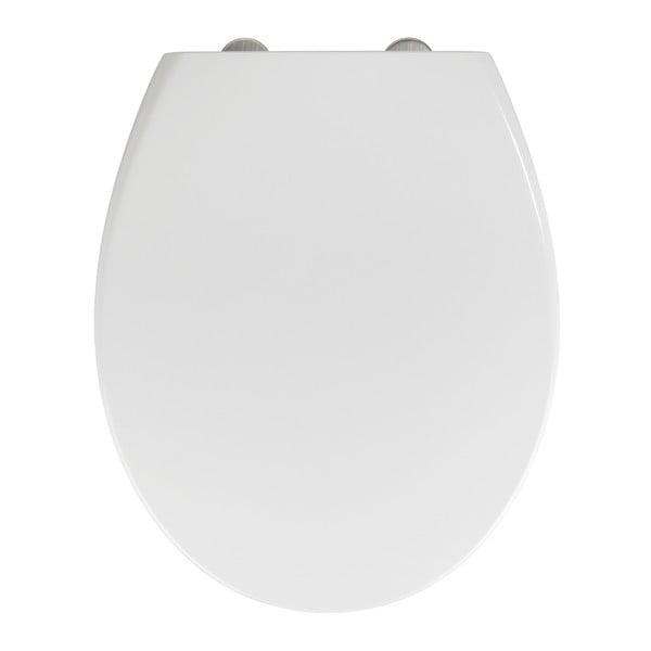 Biela WC doska z duroplastu s ľahkým zatváraním Wenko Delos