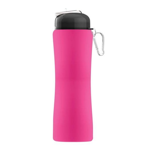 Revoluční sportovní lahev Sili-Squeeze, růžová, 650 ml
