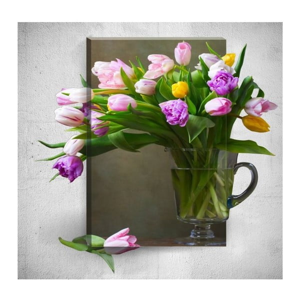 Tablou de perete 3D Mosticx Flowers In Vase, 40 x 60 cm