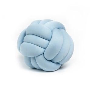 Modrý dekorativní polštář Knot, ⌀ 30 cm