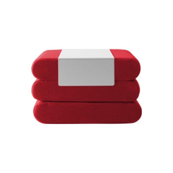 Červený rozkládací puf Softline Bingo Felt High Red