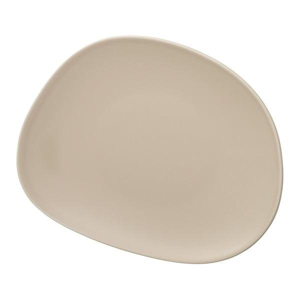 Krémově béžový porcelánový talíř na salát Like by Villeroy & Boch Group, 21 cm